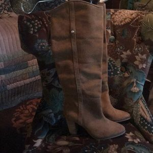 Guess over the knee suede boots